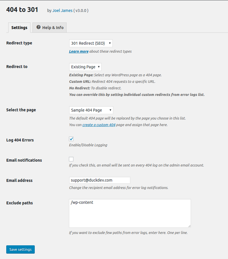 Download 404 to 301 3.0.1 – Free WordPress Plugin
