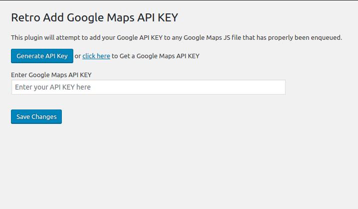 Download API KEY for Google Maps 1.2.0 – Free WordPress Plugin