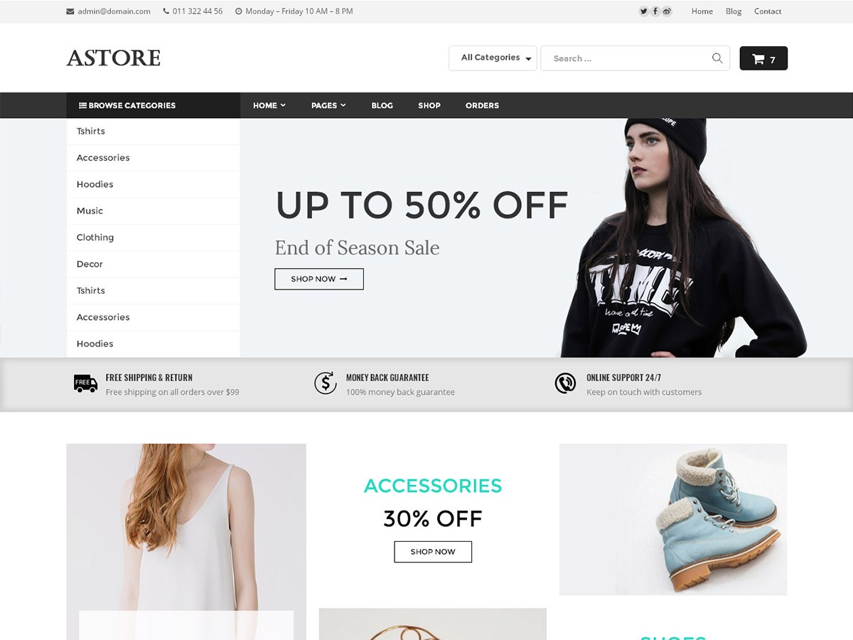 Download AStore 1.0.9 – Free WordPress Theme