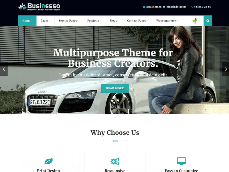 Download Abubize Business 1.1 – Free WordPress Theme