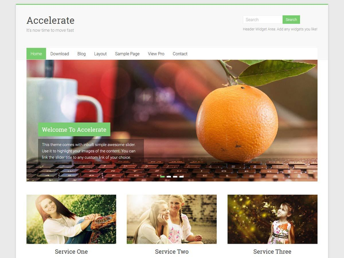 Download Accelerate 1.3.6 – Free WordPress Theme