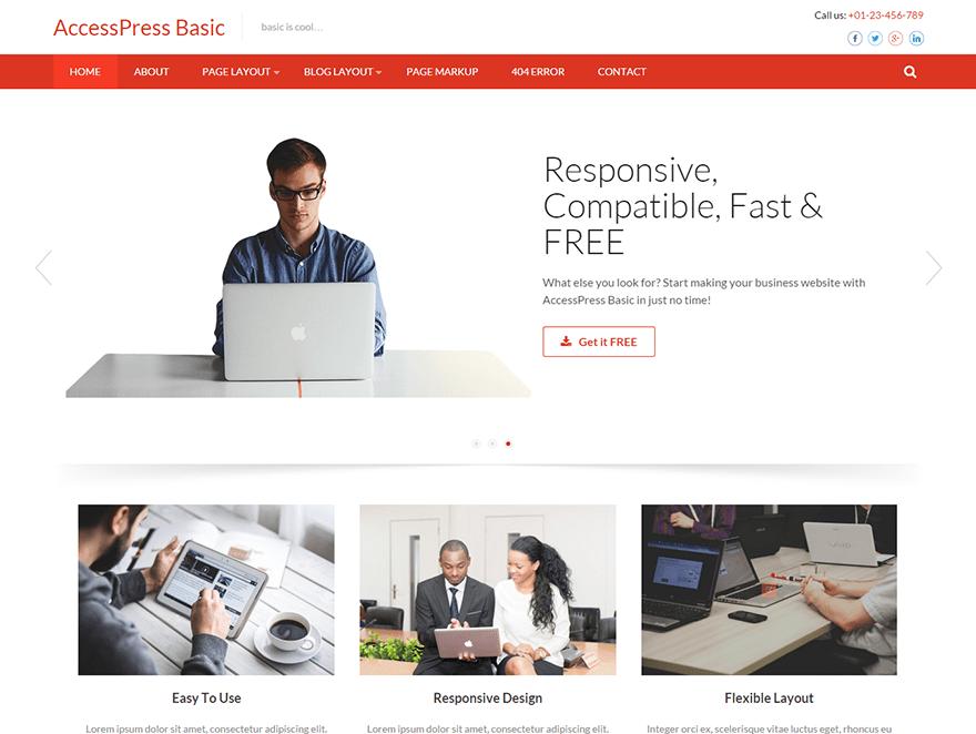 Download Accesspress Basic 3.1.5 – Free WordPress Theme