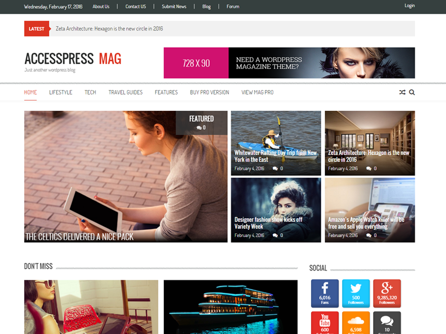Download Accesspress Mag 2.5.0 – Free WordPress Theme