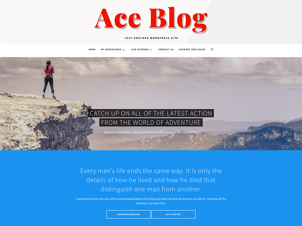 Download Ace Blog 1.0.0 – Free WordPress Theme