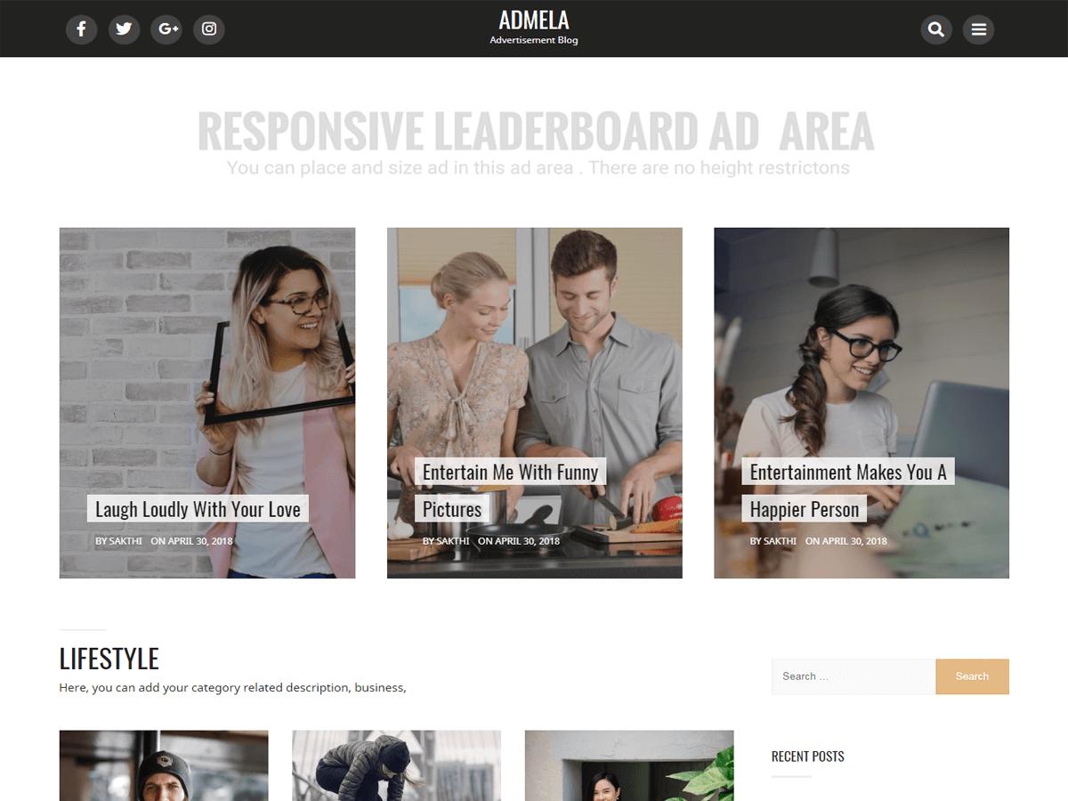 Download Admela 1.5.1 – Free WordPress Theme