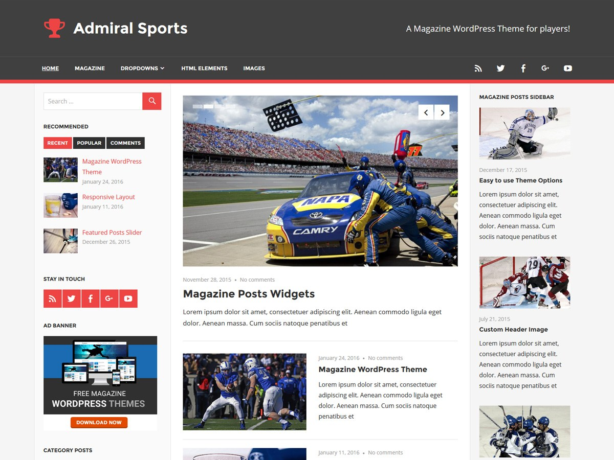Download Admiral 1.4.1 – Free WordPress Theme