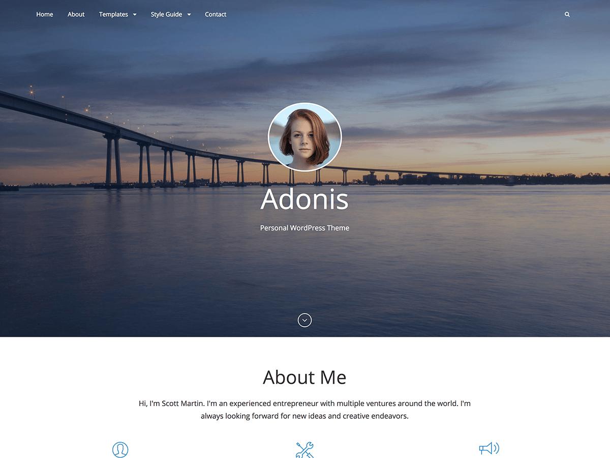 Download Adonis 1.2 – Free WordPress Theme