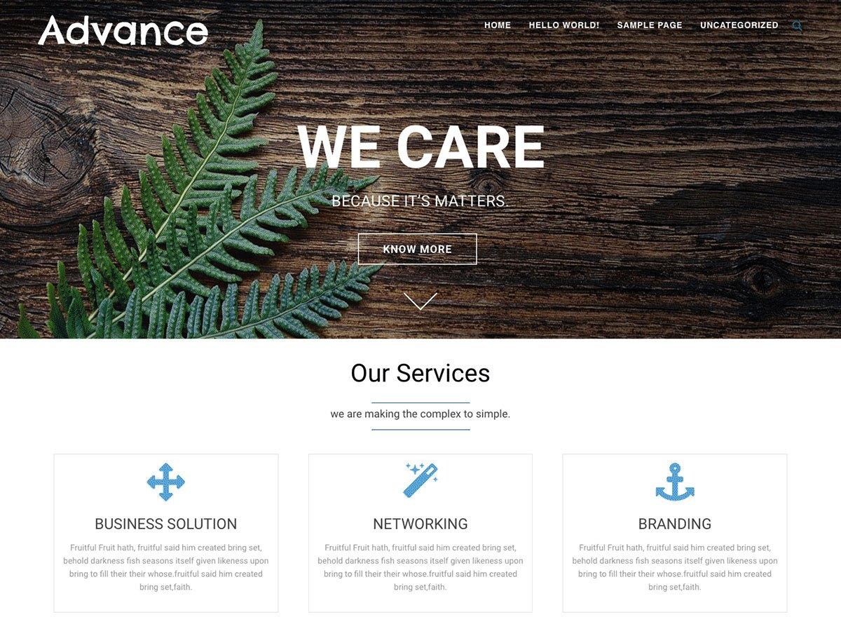 Download Advance 1.8.0 – Free WordPress Theme
