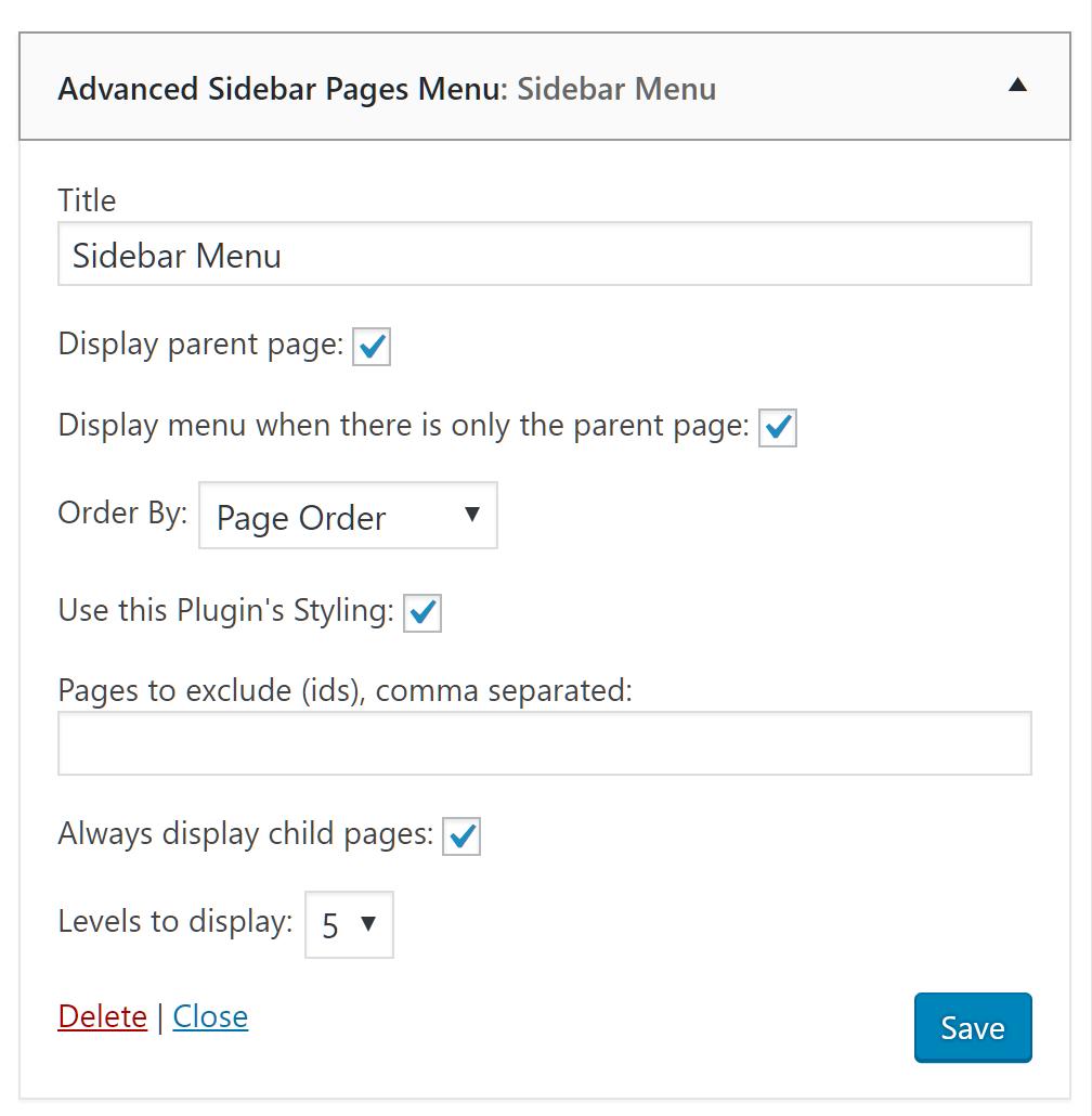 Download Advanced Sidebar Menu 7.4.0 – Free WordPress Plugin