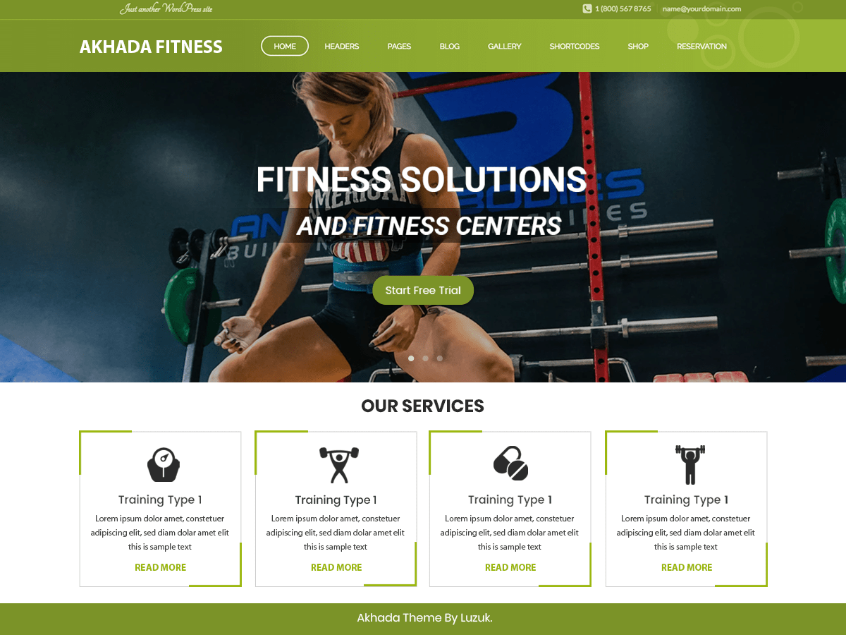 Download Akhada Fitness Gym 0.1 – Free WordPress Theme