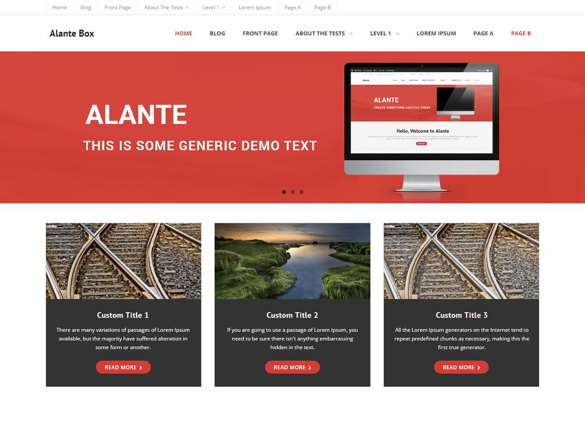Download Alante Boxed 1.0.1 – Free WordPress Theme