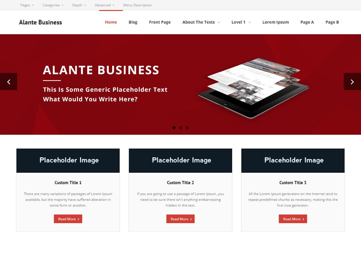 Download Alante Business 1.0.6 – Free WordPress Theme