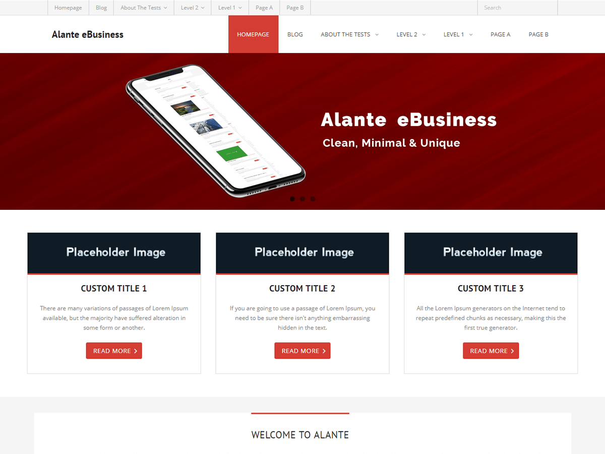Download Alante eBusiness 1.0.1 – Free WordPress Theme