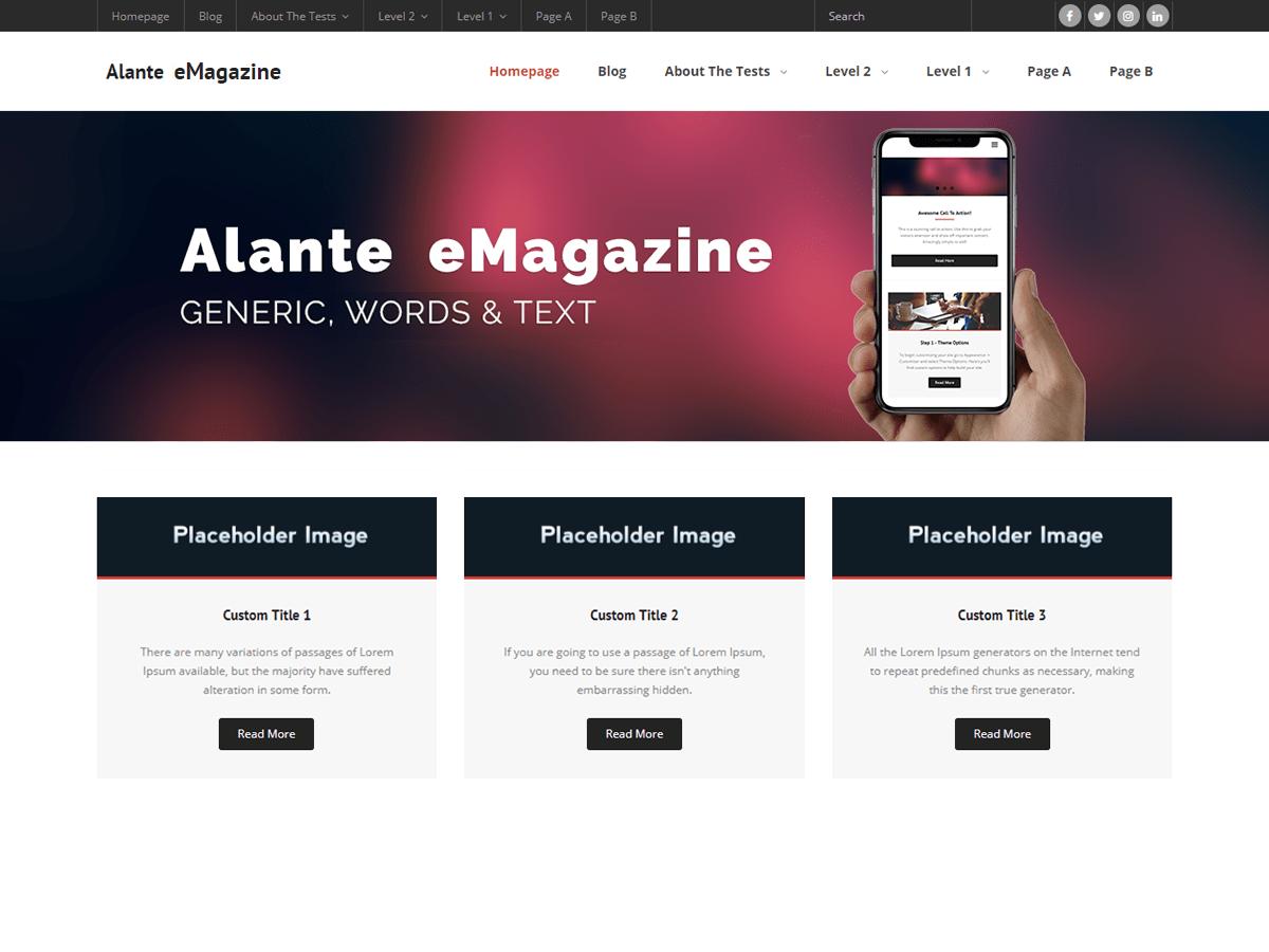 Download Alante eMagazine 1.0.1 – Free WordPress Theme