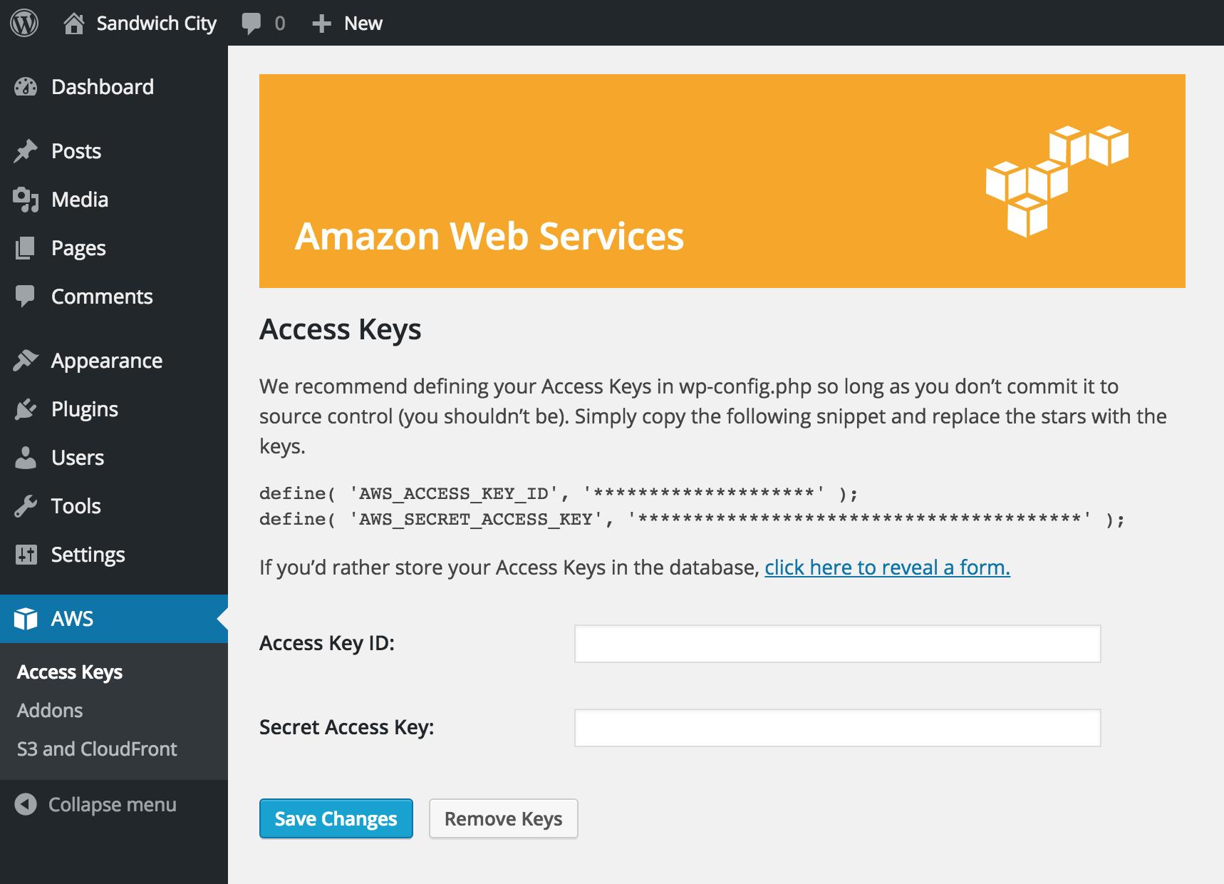 Download Amazon Web Services 1.0.5 – Free WordPress Plugin
