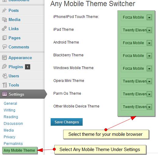 Download Any Mobile Theme Switcher 2.1 – Free WordPress Plugin