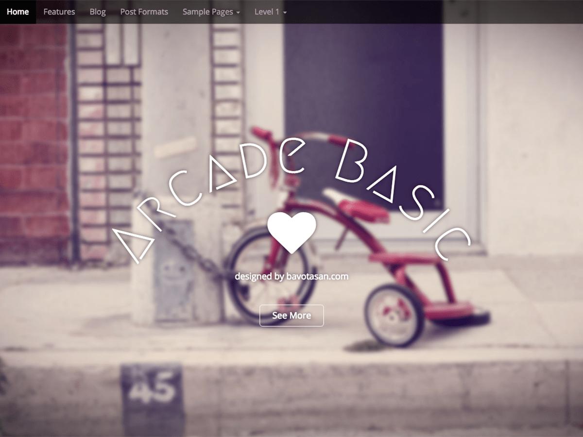 Download Arcade Basic 1.1.1 – Free WordPress Theme