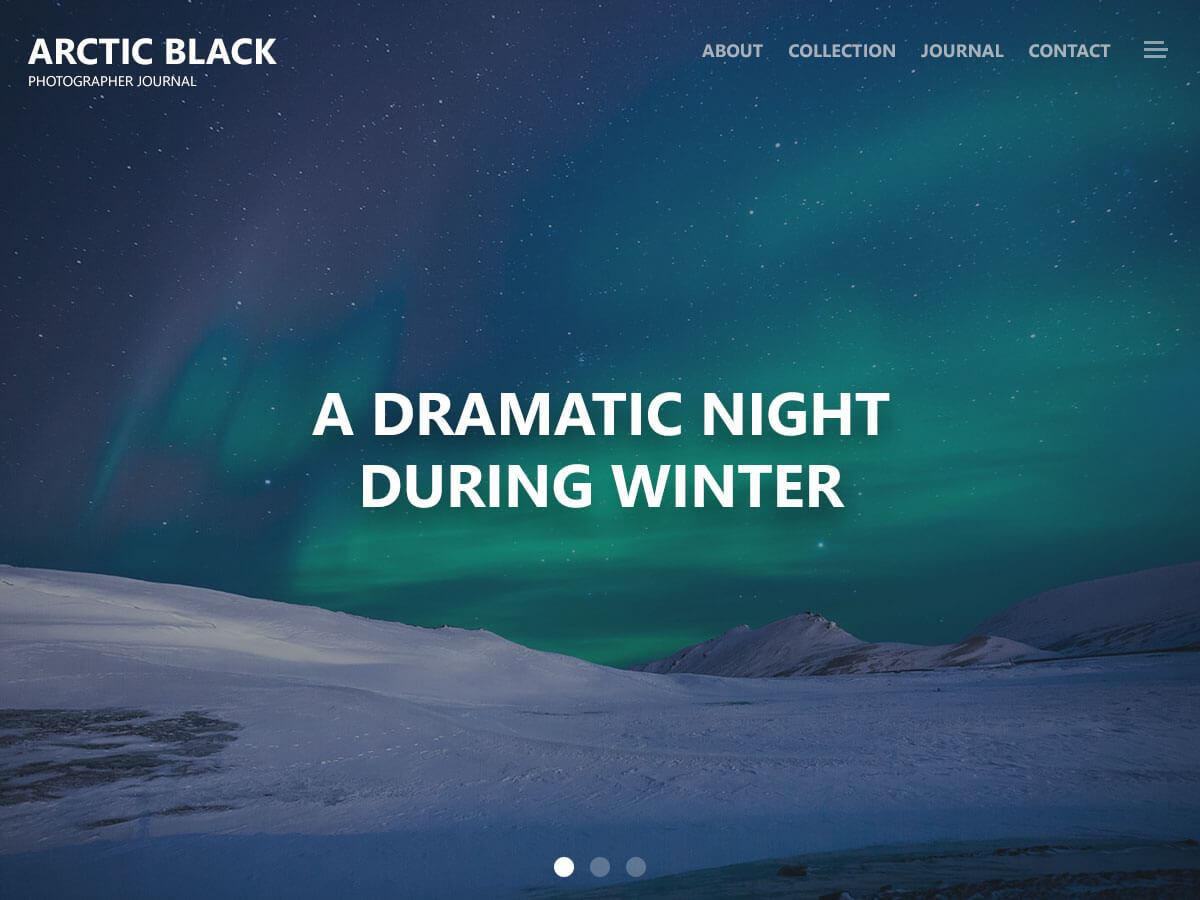 Download Arctic Black 1.0.9 – Free WordPress Theme