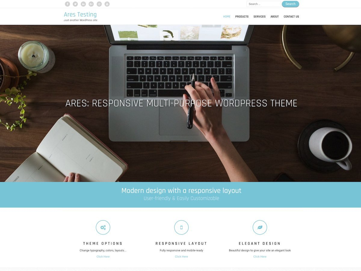 Download Ares 2.0.3 – Free WordPress Theme