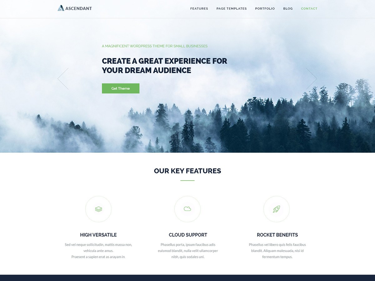 Download Ascendant 0.7 – Free WordPress Theme