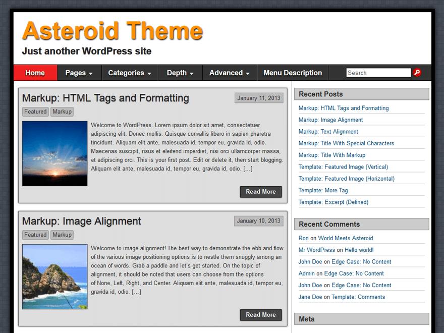 Download Asteroid 1.2.7 – Free WordPress Theme
