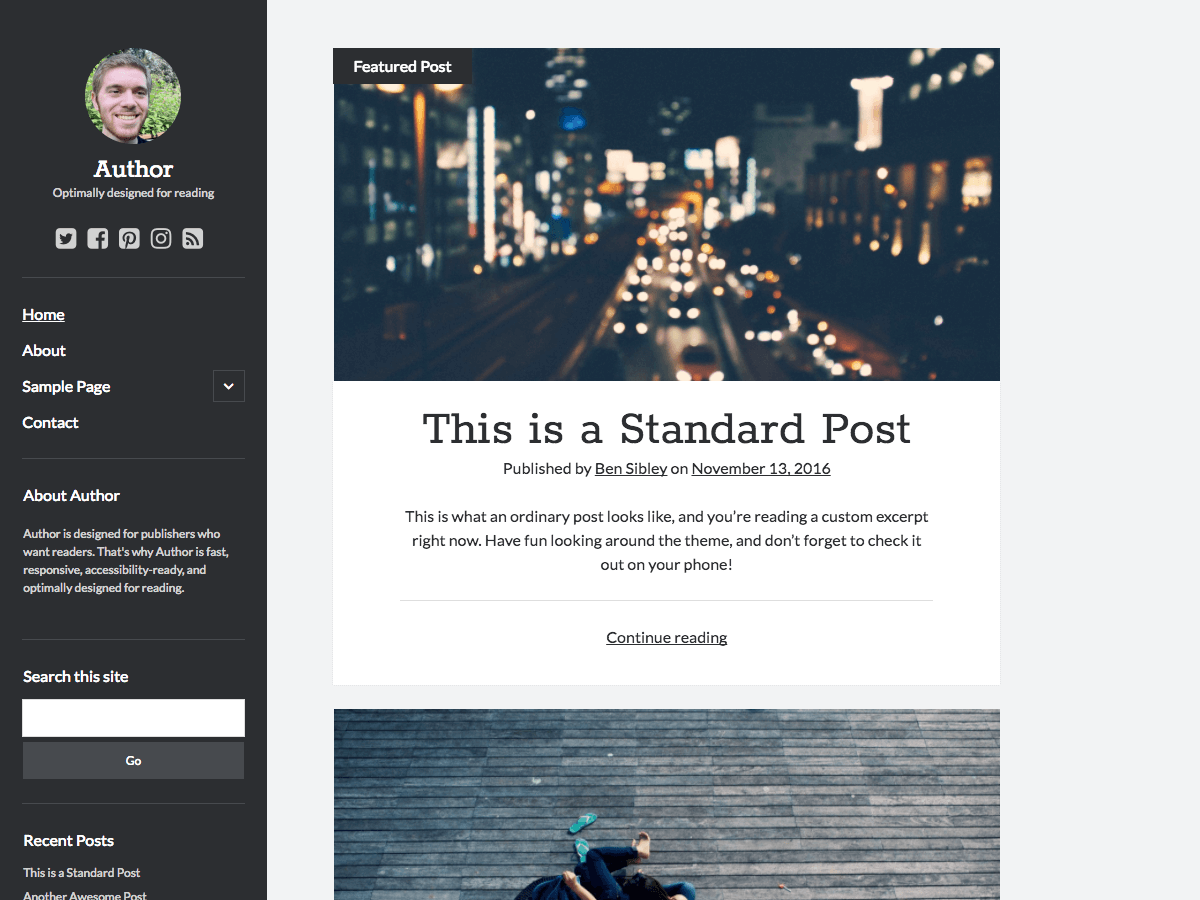 Download Author 1.32 – Free WordPress Theme