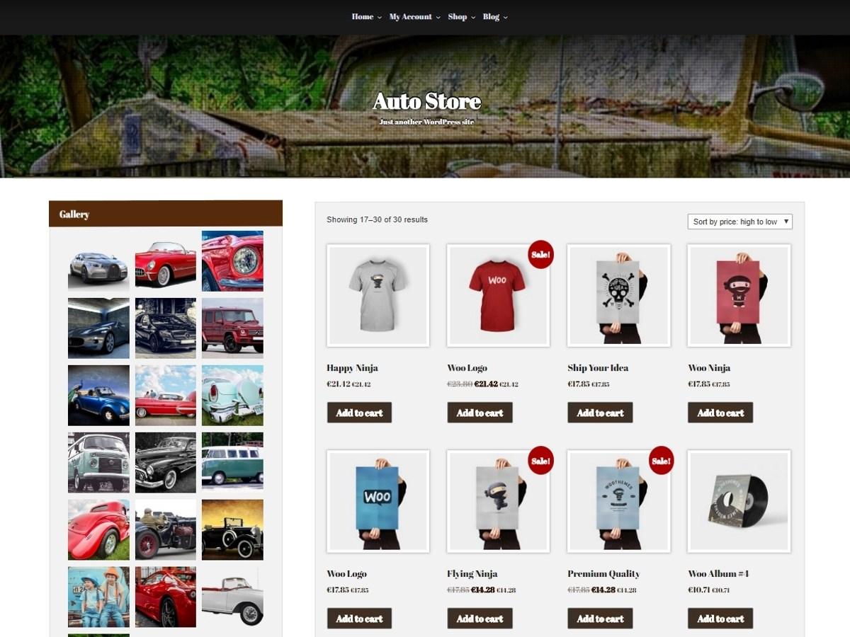Download Auto Store 1.2.1 – Free WordPress Theme