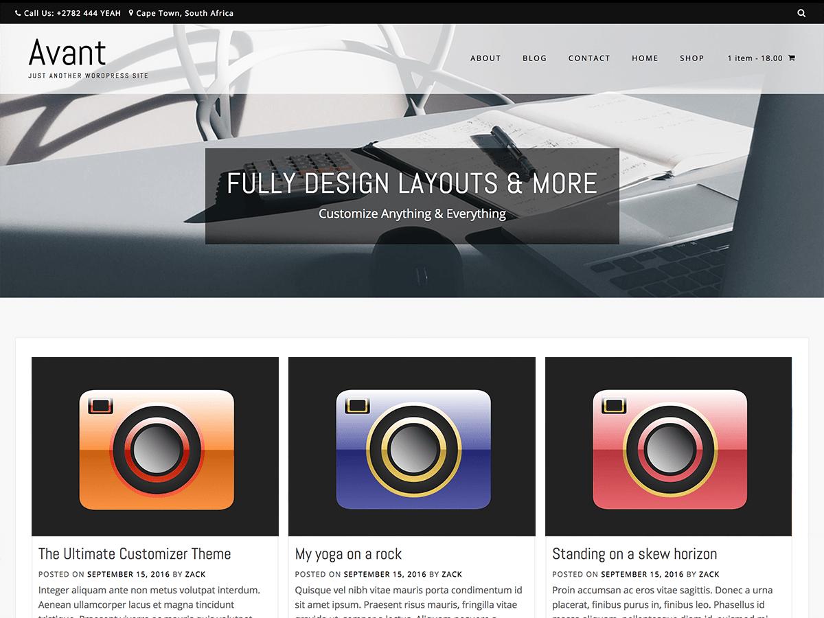 Download Avant Portfolio 1.0.1 – Free WordPress Theme