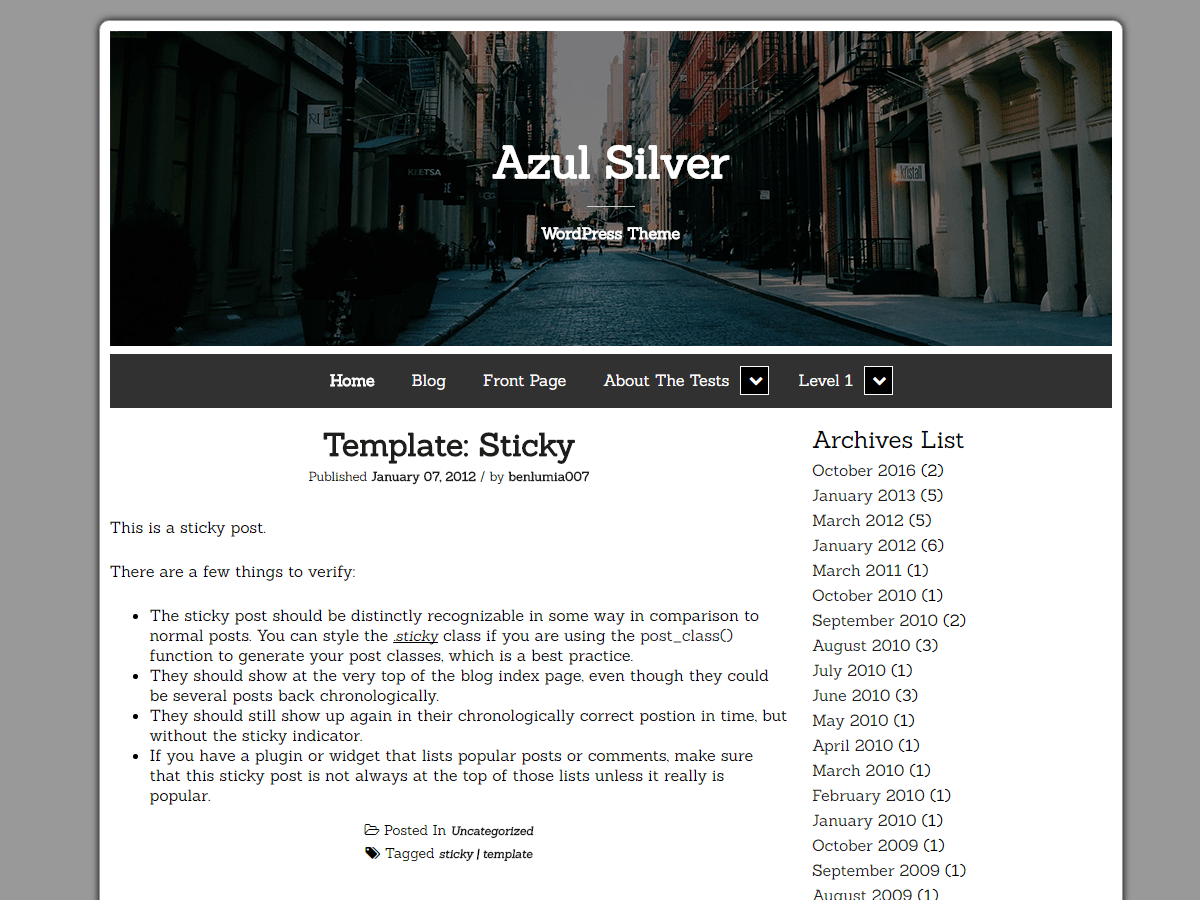 Download Azul Silver 0.4.0 – Free WordPress Theme