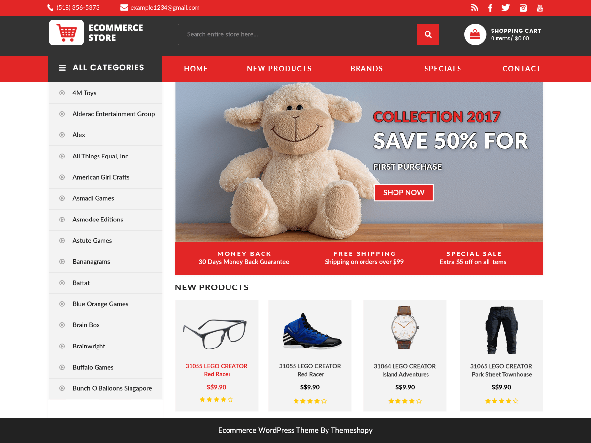 Download BB Ecommerce Store 1.3.4 – Free WordPress Theme