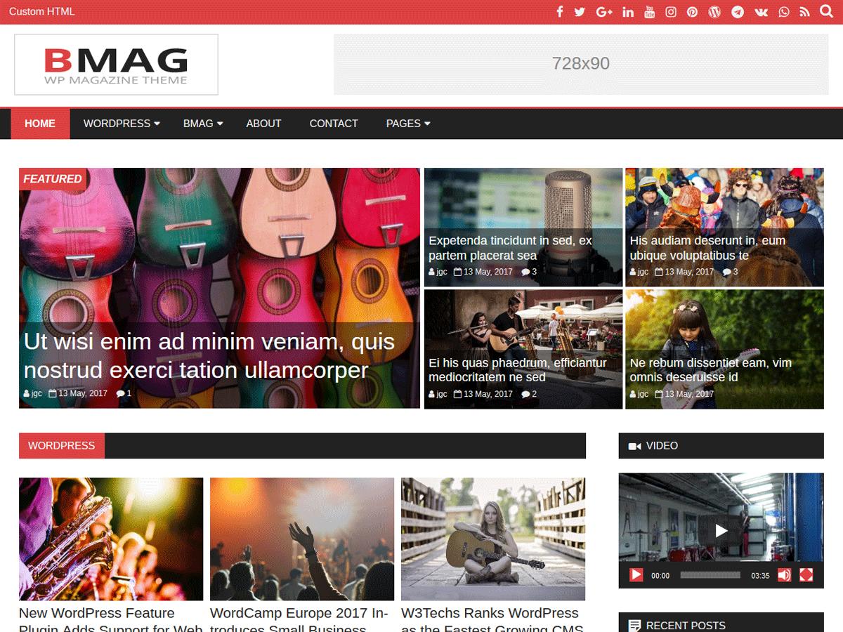 Download BMag 1.0.6 – Free WordPress Theme