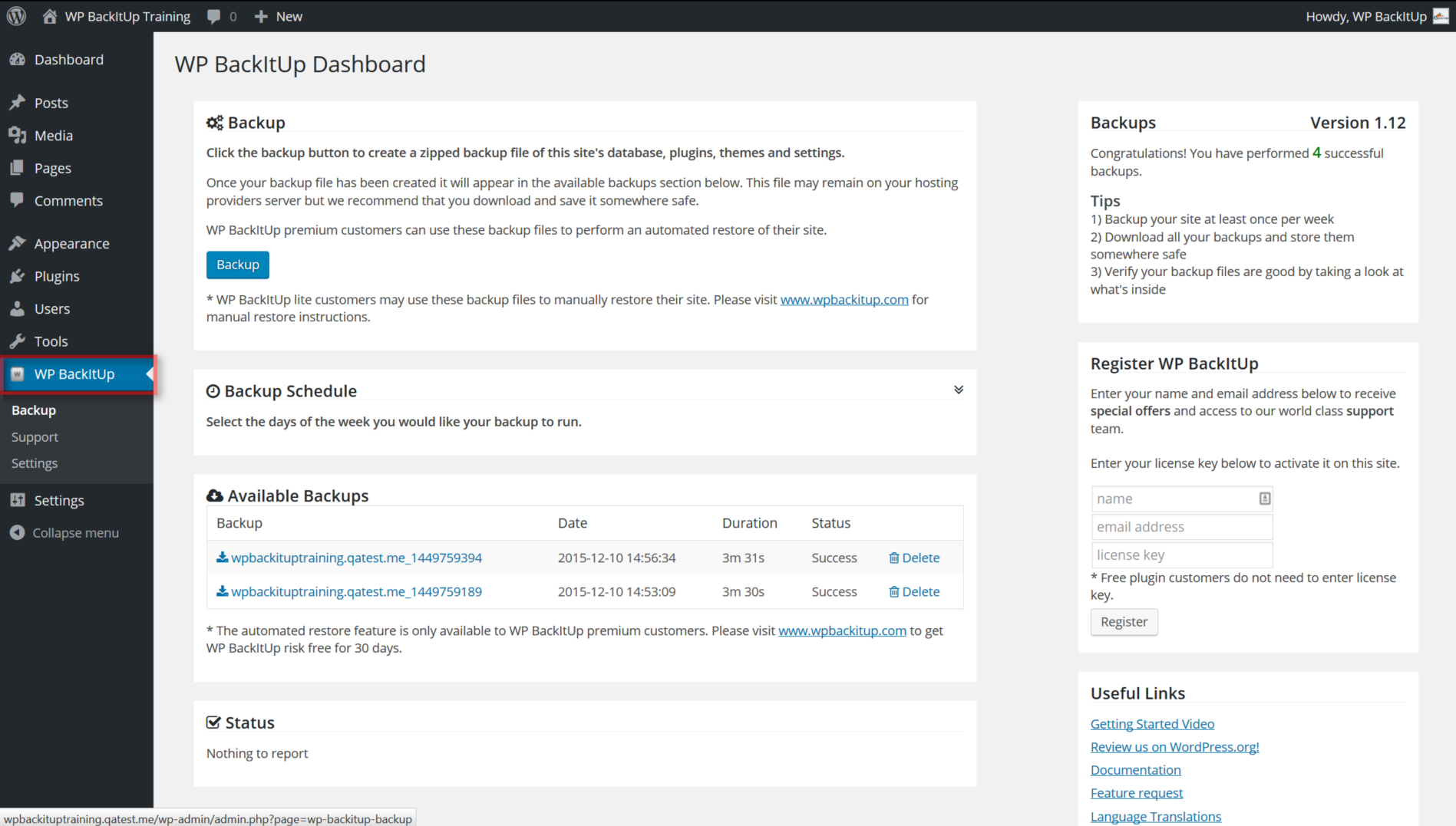 Download Backup and Restore WordPress – Backup Plugin 1.29.0 – Free WordPress Plugin