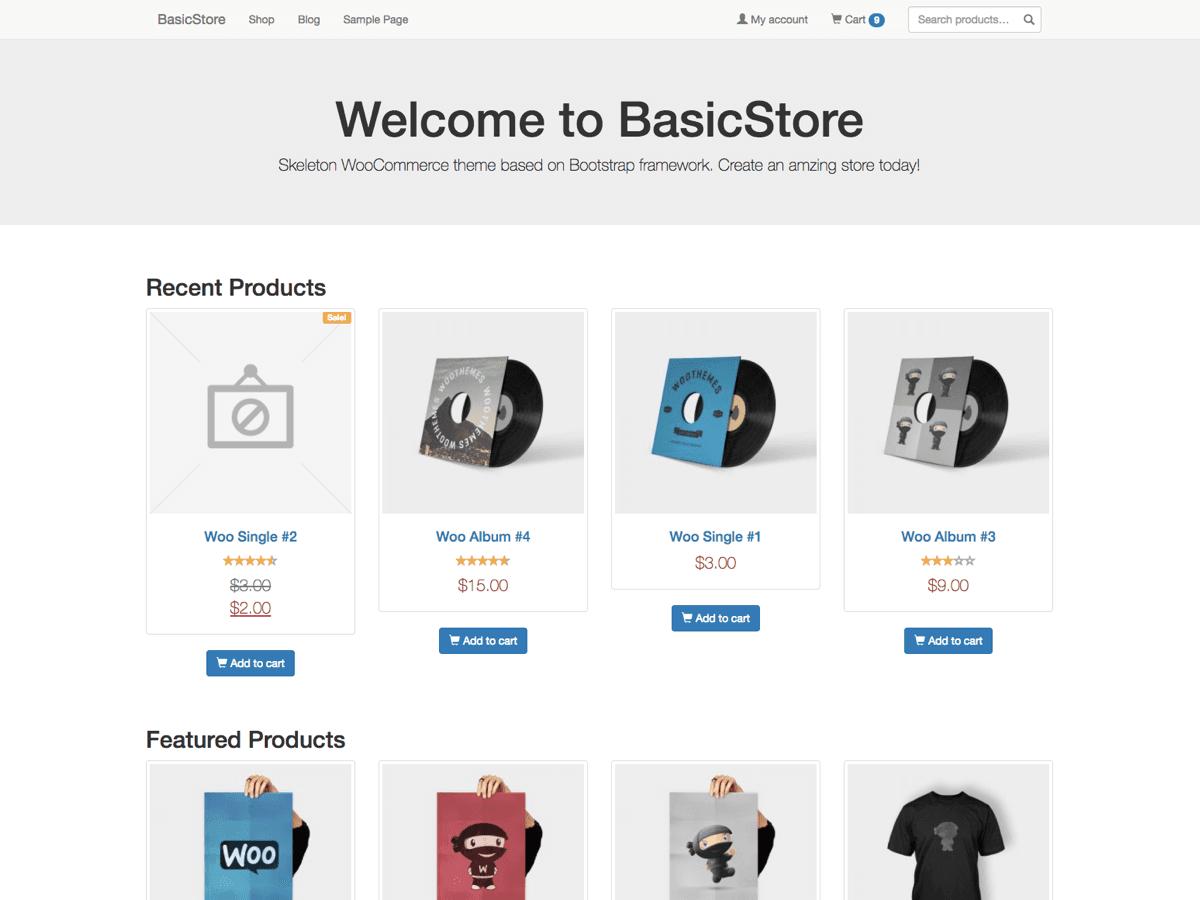 Download BasicStore 1.4.5 – Free WordPress Theme