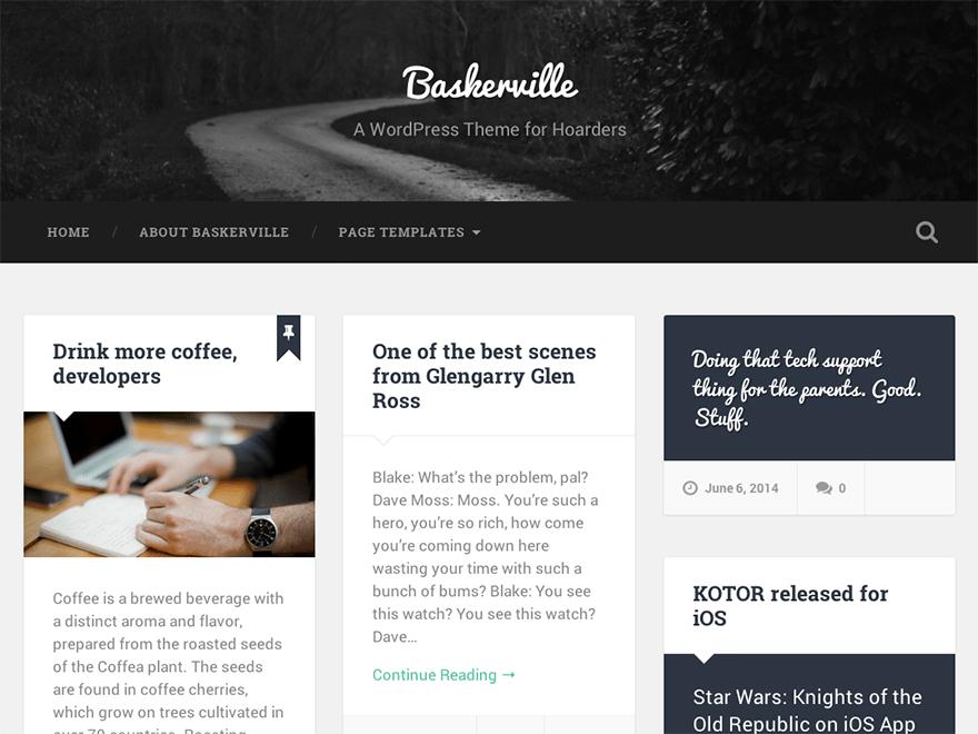 Download Baskerville 1.27 – Free WordPress Theme