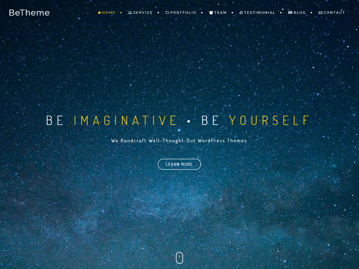 Download BeOnePage 1.3.9 – Free WordPress Theme