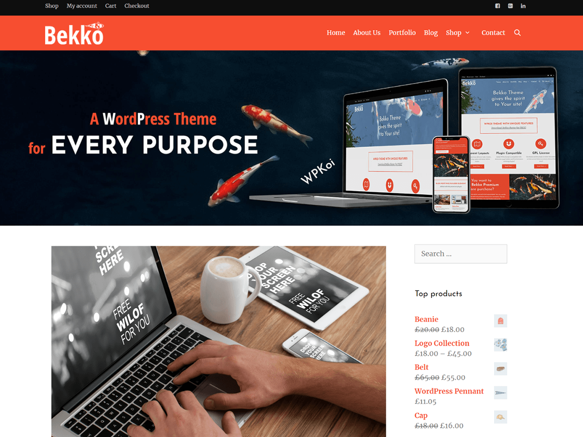 Download Bekko 1.0.2 – Free WordPress Theme