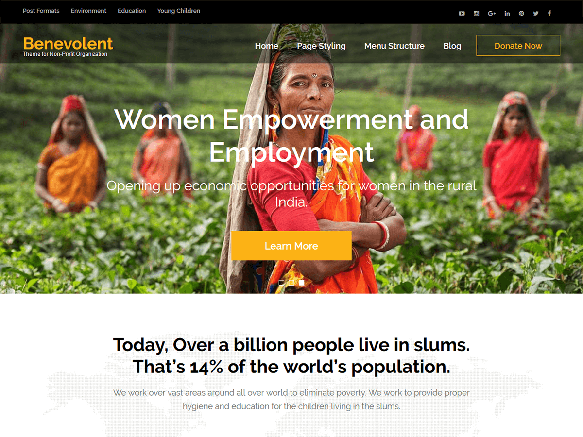 Download Benevolent 1.1.7 – Free WordPress Theme