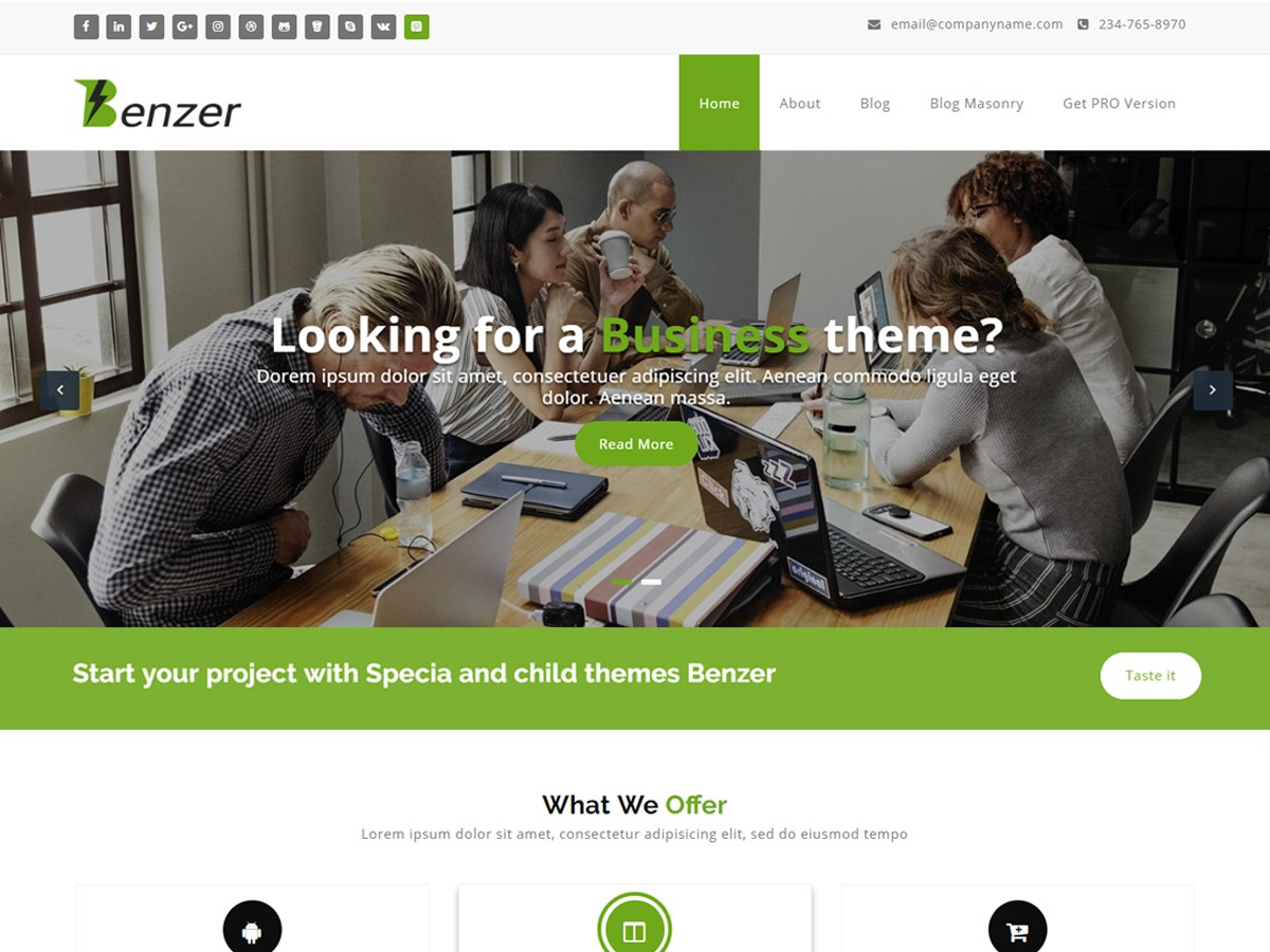 Download Benzer 1.0.21 – Free WordPress Theme