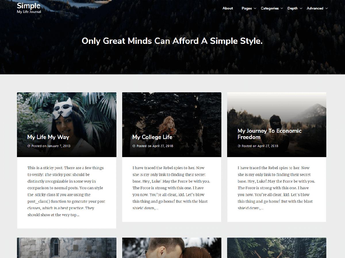 Download Best Simple 0.2 – Free WordPress Theme
