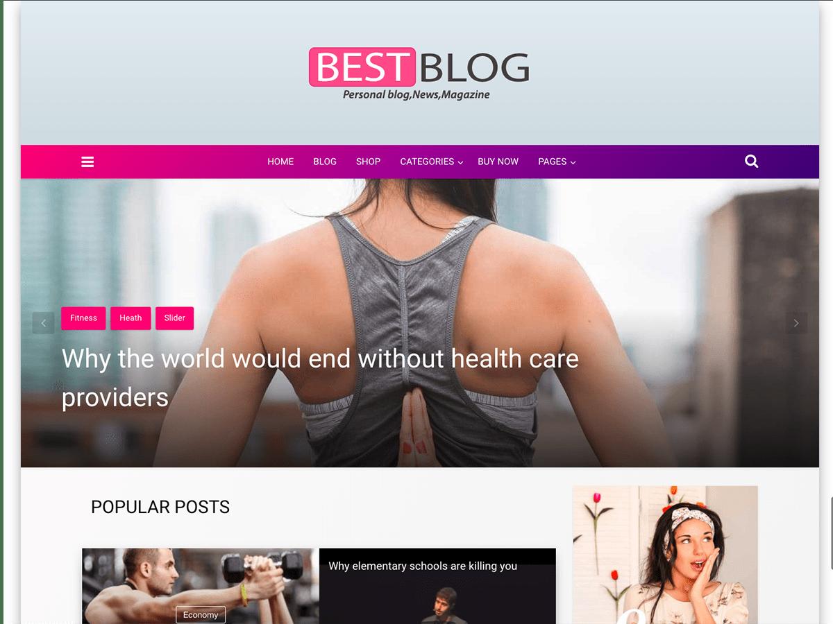 Download Best blog 1.6.0 – Free WordPress Theme