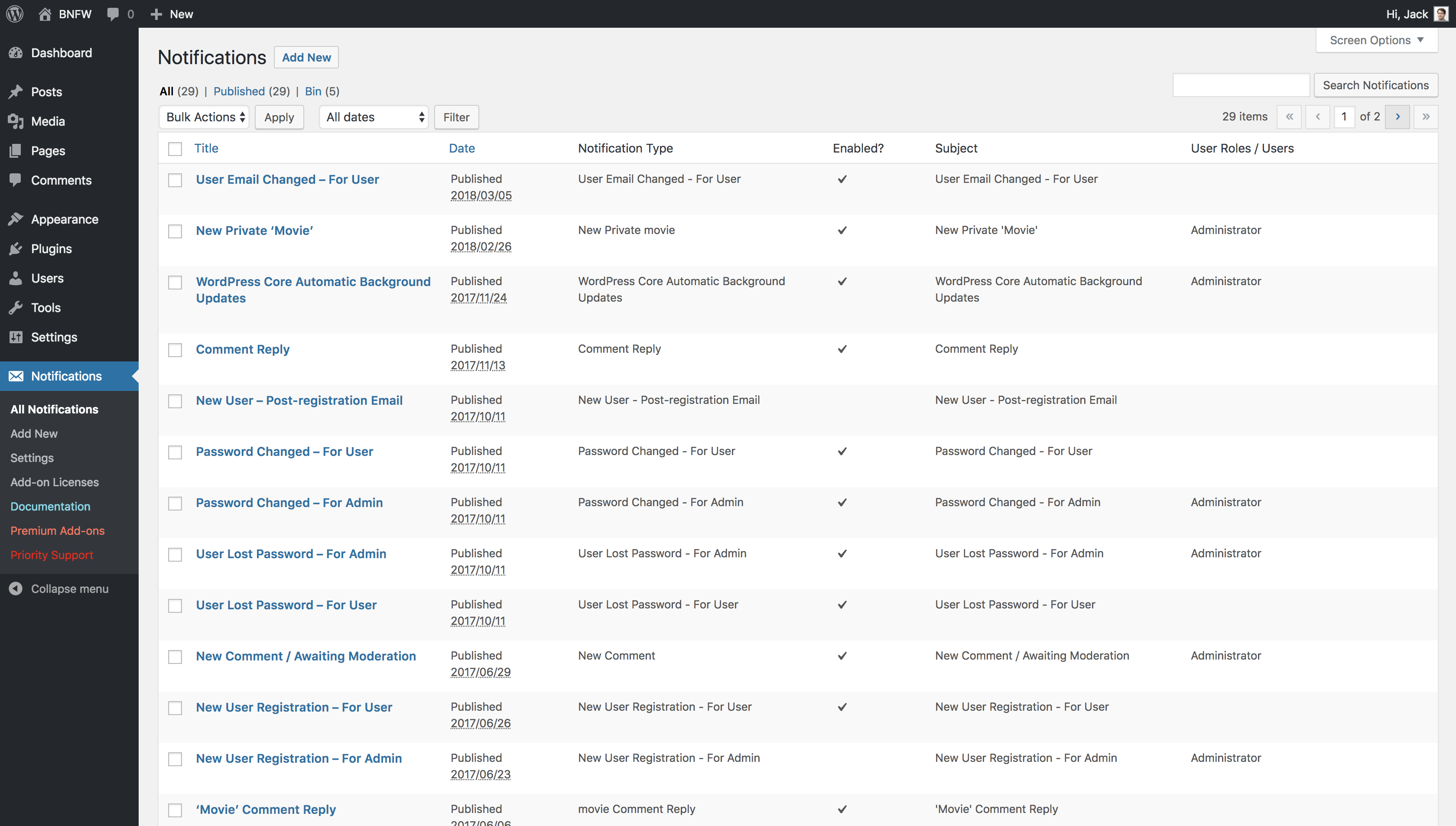 Download Better Notifications for WordPress 1.7 – Free WordPress Plugin