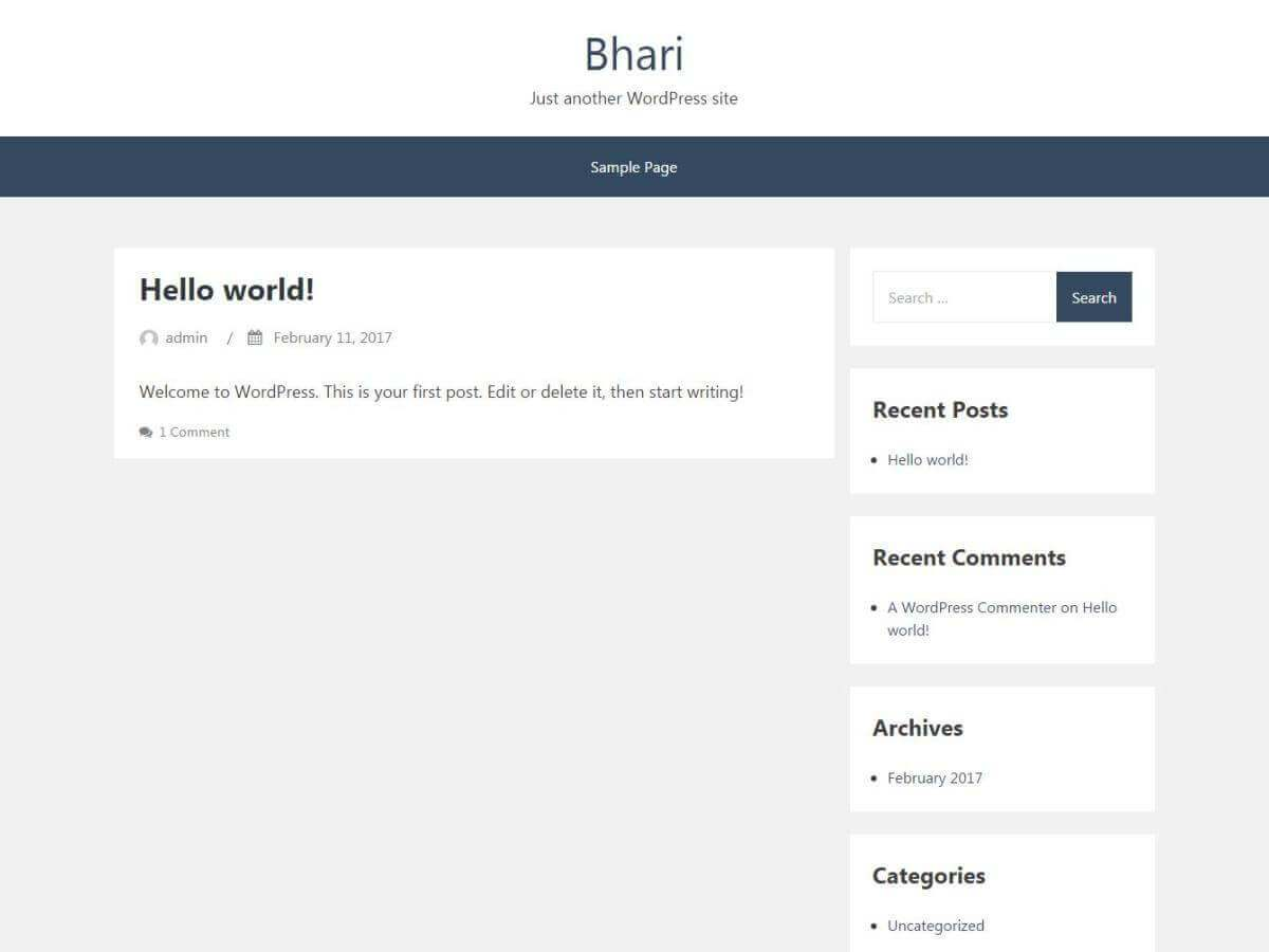 Download Bhari 1.0.4.9 – Free WordPress Theme
