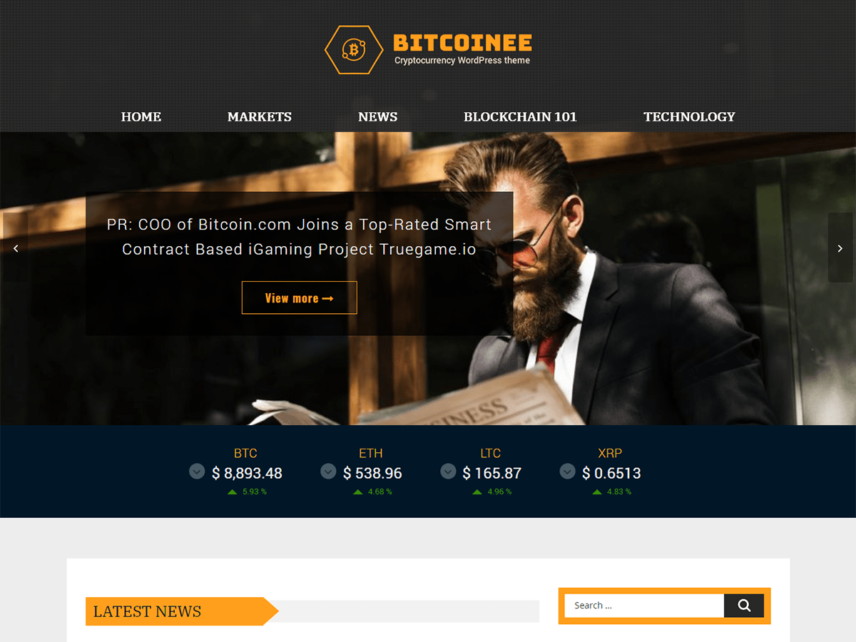 Download Bitcoinee 1.2.4 – Free WordPress Theme