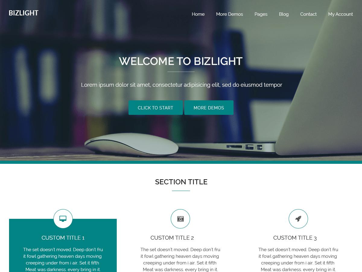 Download Bizlight 1.3.1 – Free WordPress Theme