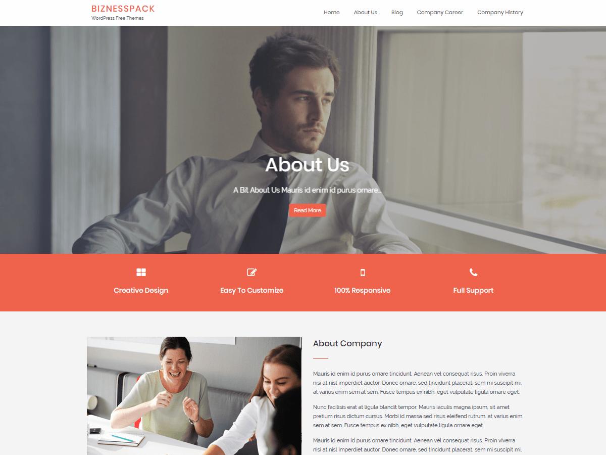 Download Biznesspack 1.5.1 – Free WordPress Theme