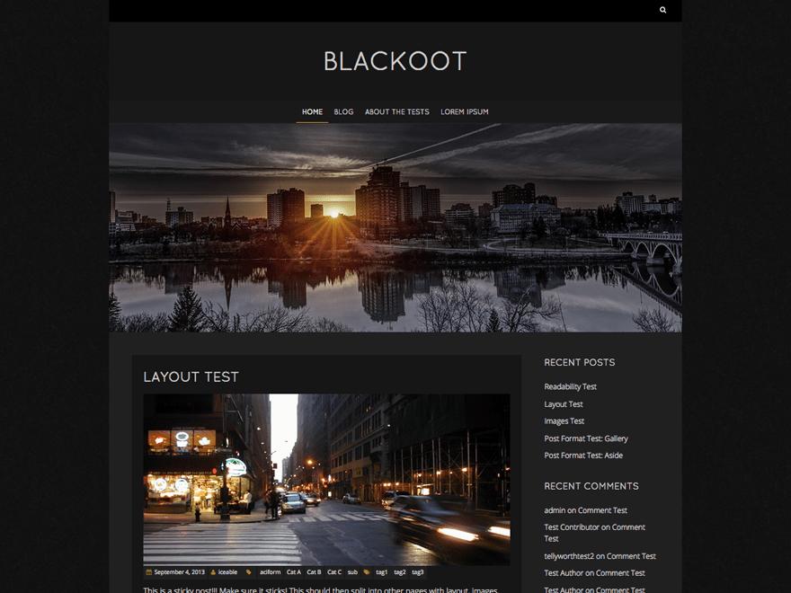Download Blackoot Lite 1.1.21 – Free WordPress Theme