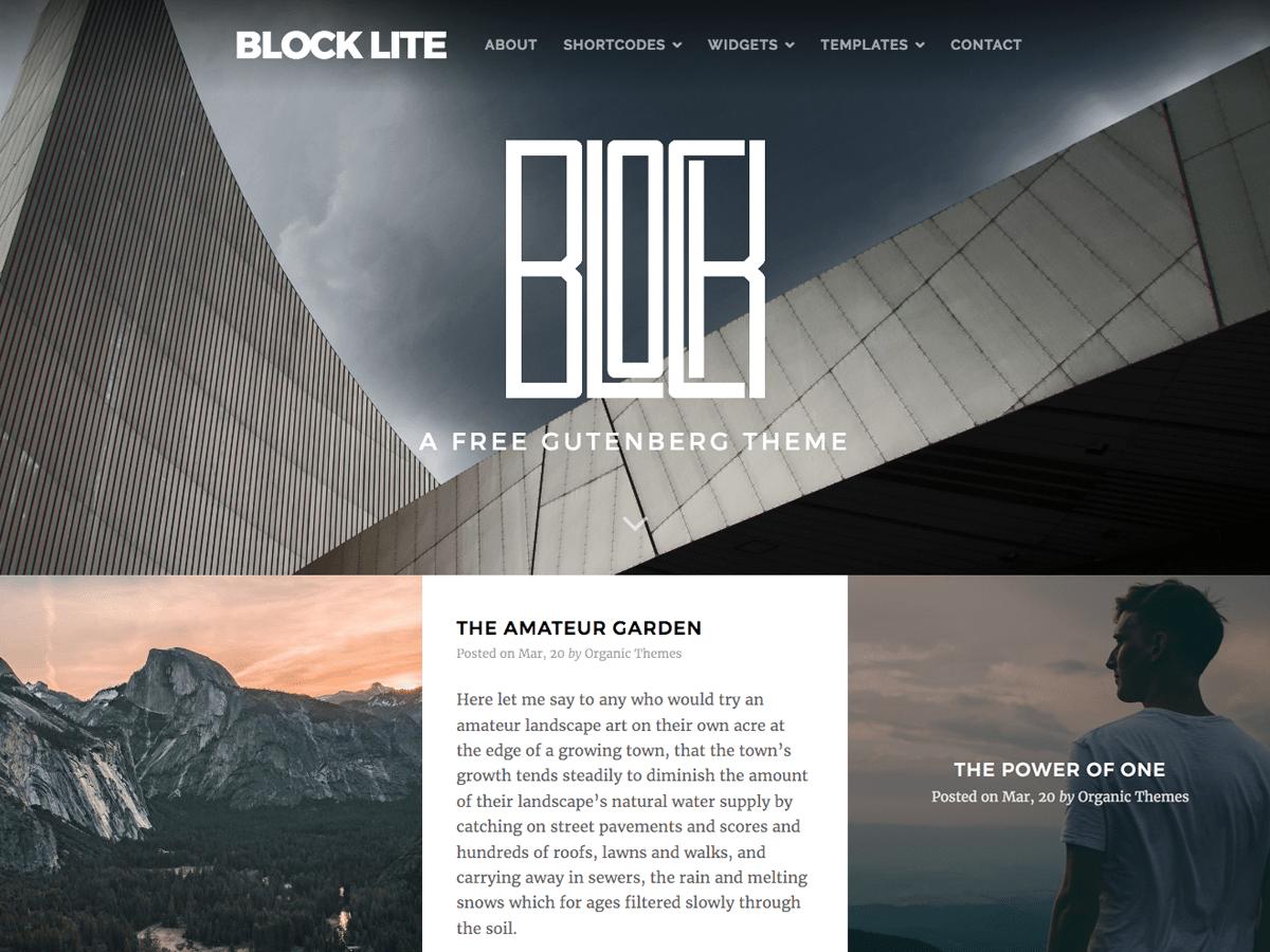 Download Block Lite 1.0.7 – Free WordPress Theme