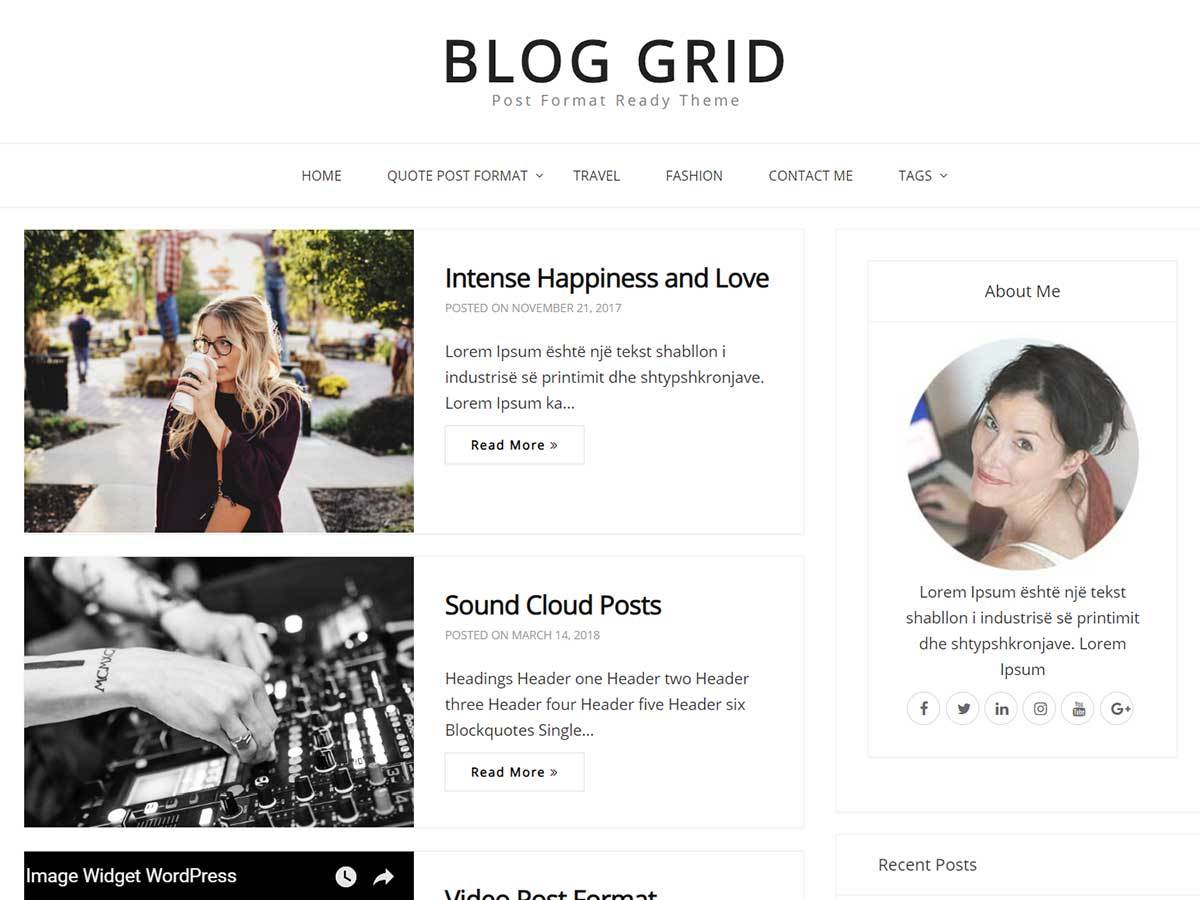 Download Blog Grid 1.0.2 – Free WordPress Theme