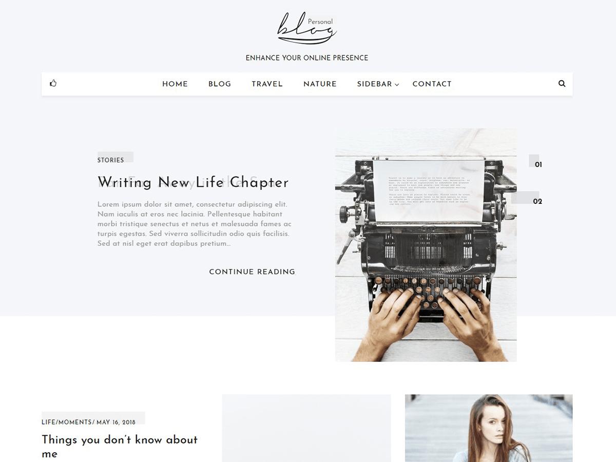 Download Blog Personal 1.0.7 – Free WordPress Theme