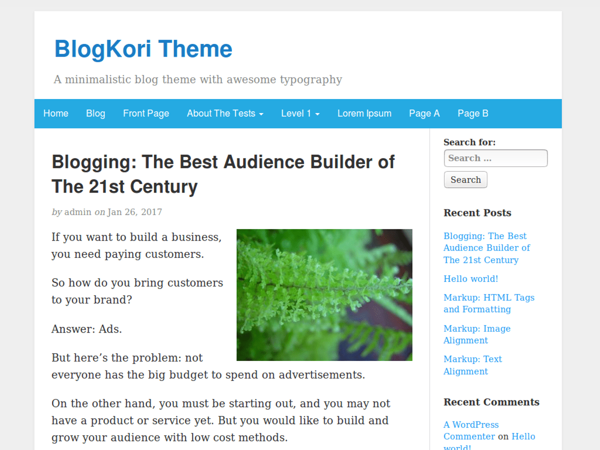 Download BlogKori 1.3.7 – Free WordPress Theme